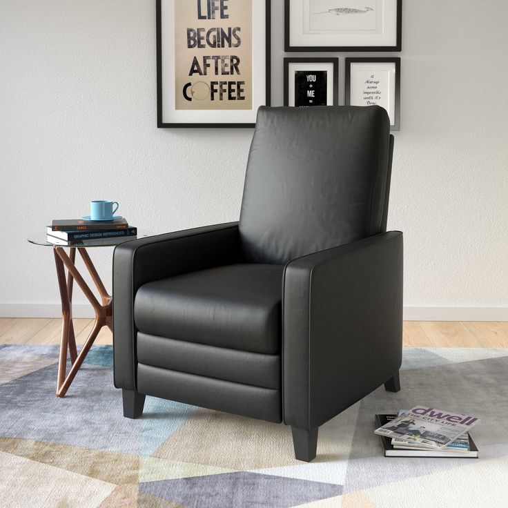 CorLiving Kelsey Bonded Leather Modern Recliner Armchair (Black) & 19 best Recliners images on Pinterest | Modern recliner Lounge ... islam-shia.org