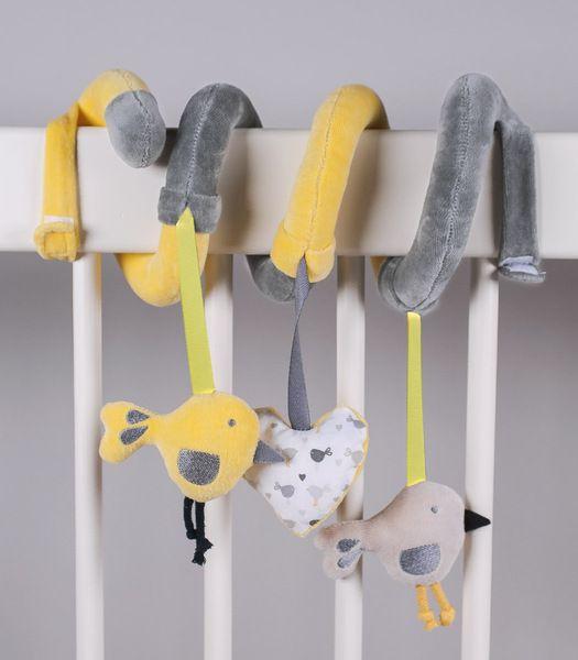 Knistertücher - WK - Baby Spielzeug zum Aufhängen Spirale - ein Designerstück von muzponyde bei DaWanda