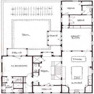 26 best house plans images on pinterest house floor for L shaped craftsman home plans