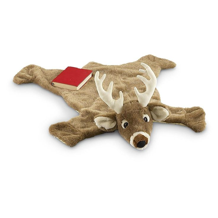 Amazon.com: Carstens Plush White Tail Deer Animal Rug, Small: Home & Kitchen