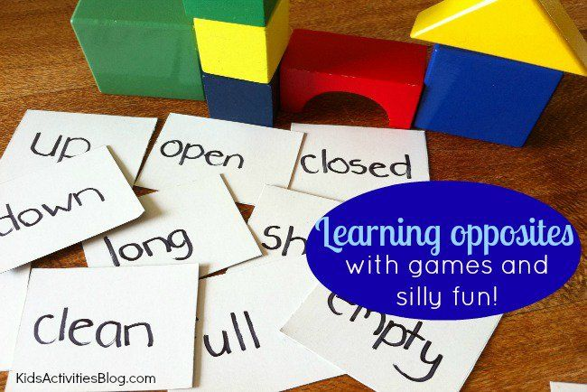 Want some new game ideas for Wednesday? Try these fun game using opposite words! We at Kids Activities Blog love games that sneak in a little teaching along the way. Wednesday We've been learning all about opposites recently and to add a bit of extra fun, we declared one day last week to be Wacky …