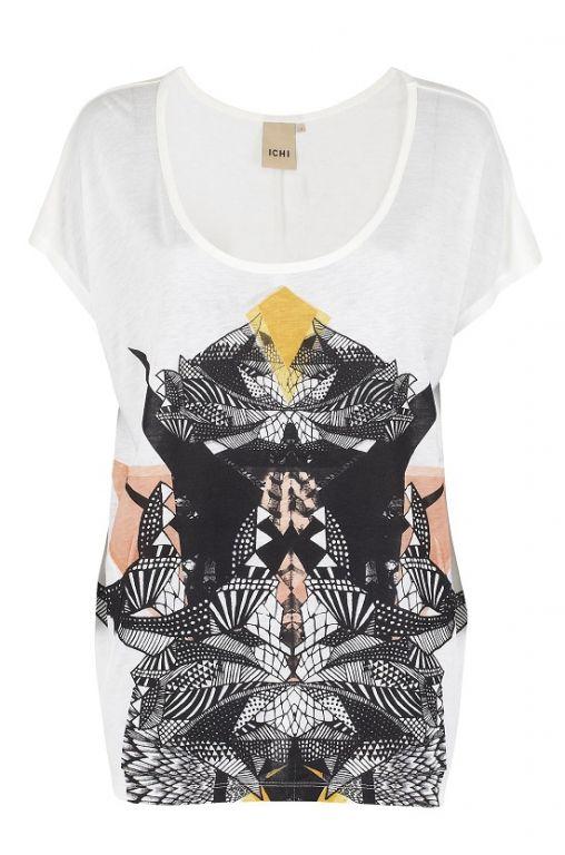 ICHI Jet t-shirt Eggnog 100994 - T-shirts - MaMilla