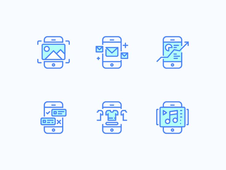 Some experience. App categories icons.  Press 'L' if you Like it!)