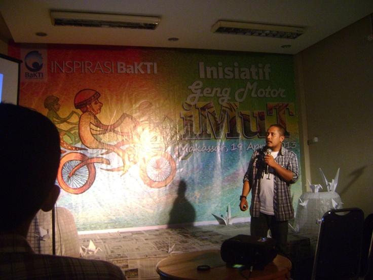Bung Frits, koordinator Geng Motor iMuT yang tidak imut. Inspirasi BaKTI with Geng Motor iMuT