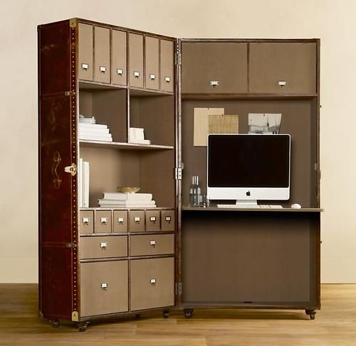 Best idea for home office, look at Pinel, Goyard, Moynat, Vuitton and other French Malletiers