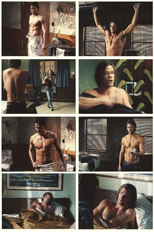 I think we can all appreciate Sam Winchester without a shirt on.