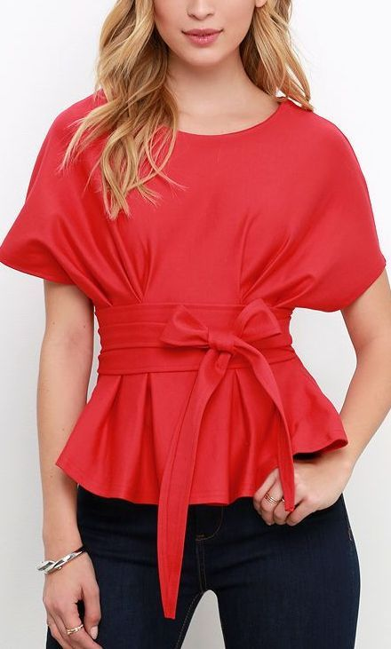 Bring to a Simmer Coral Red Top