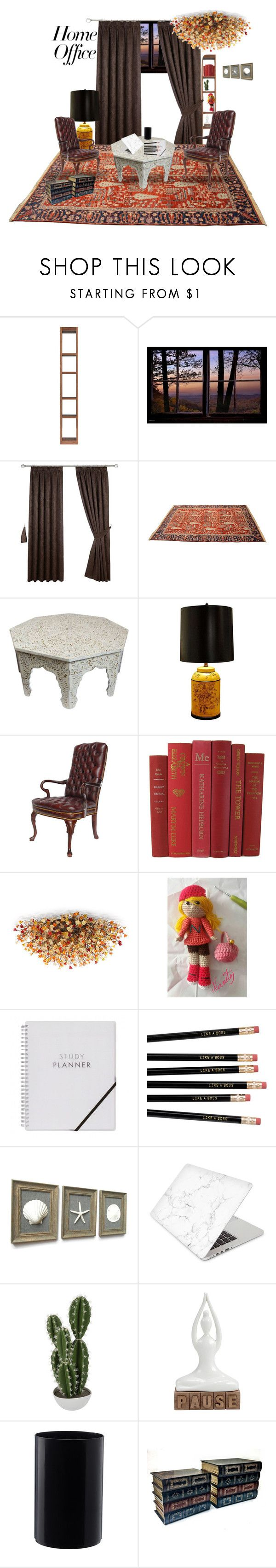 """""""My home office"""" by nanitas23 ❤ liked on Polyvore featuring interior, interiors, interior design, home, home decor, interior decorating, Frederick Cooper, Recover, Abigail Ahern and home office"""