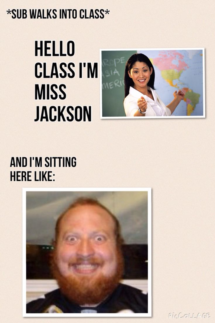 Hahaha now I just need a teacher named miss Jackson, for people who don't get this there is a panic at the disco song called miss Jackson
