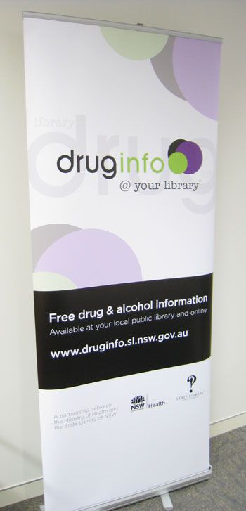 Pull up banner - drug info @ your library