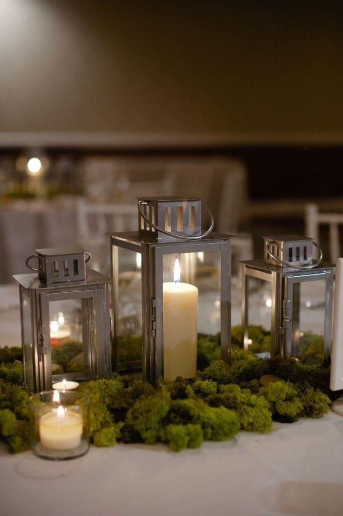 Woodland Wedding Lantern CenterPiece