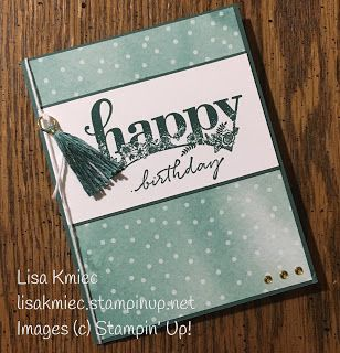 Stampin' with Lisa: Monochromatic Happy Wishes Stampin' Up! 2018 Sale A Bration
