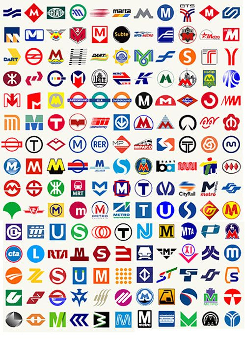 So Interesting How So Many Metro Transporation Logo Designs Use The