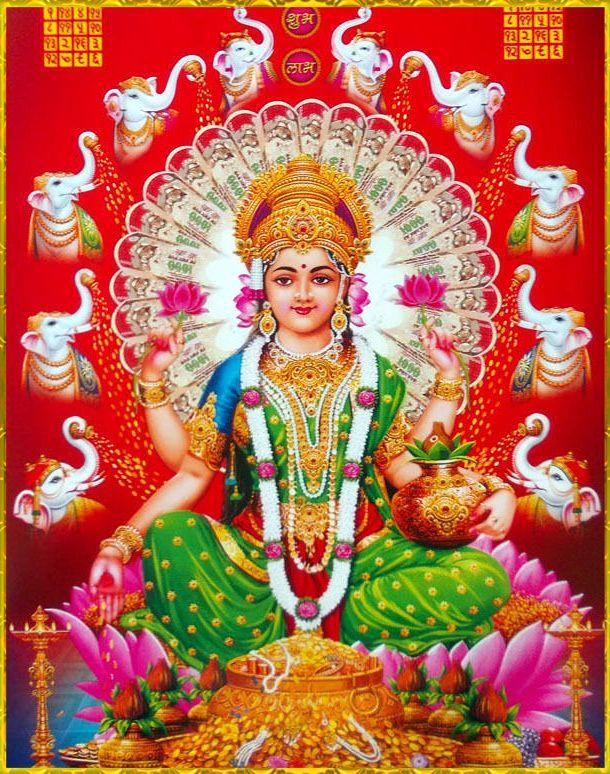 Calendar Art Of Hindu Gods : Lakshmi devi ॐ pinterest god pictures