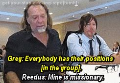 Norman's position is missionary... not really though. Lol