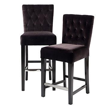 DIY idea for bar chairs. Z Gallerie - Lola Bar & Counter Stools - Chocolate