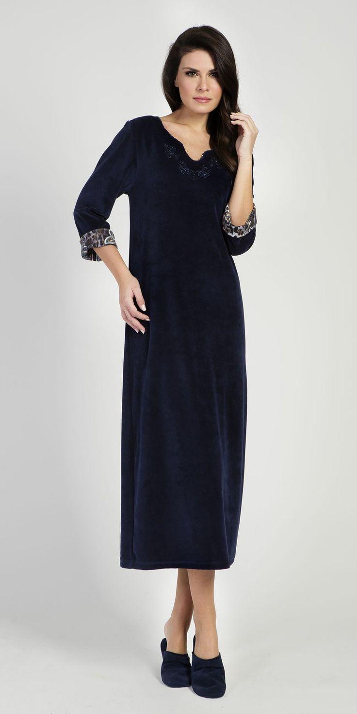 Homewear Dress 80% Cotton 20% Polyester | Loungewear| Vamp! Homewear Dress 80% Cotton 20% Polyester 5311