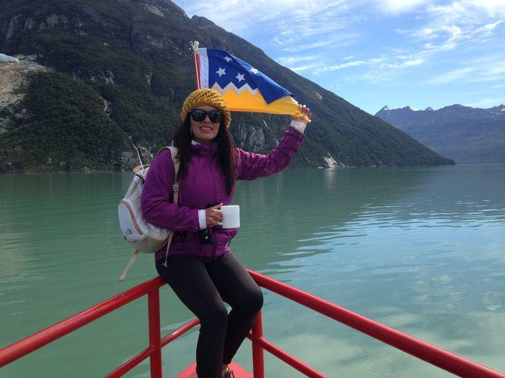 Navegando hacia los glaciares