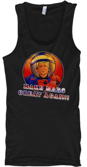Donald Trump Nasa Space Program T Shirt Black T-Shirt Front
