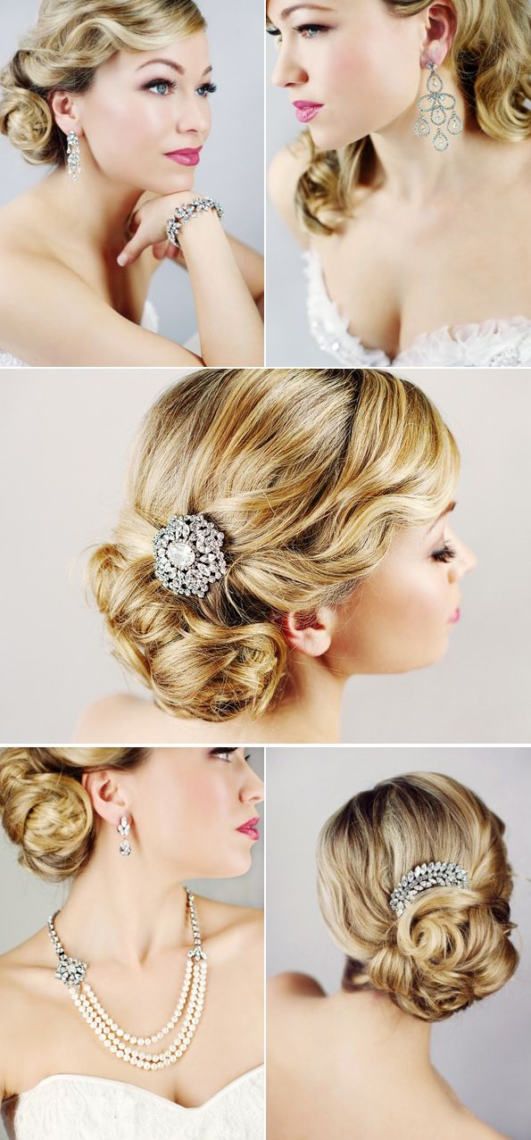 bridal jewelry, but I really love the hair!!!