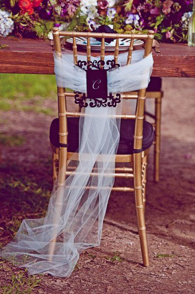 Chair Decor ~ {Kate Miller Events™} #weddings