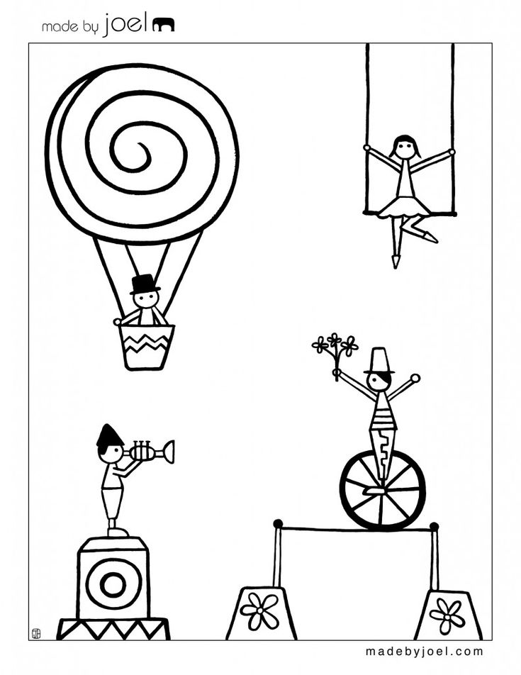 circus theme preschool coloring pages - photo#18