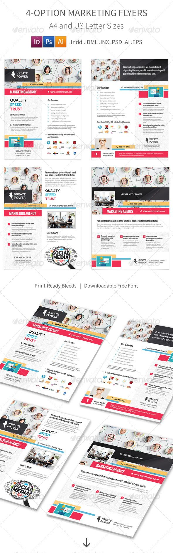 Marketing and Advertising Flyers – 4 Options - Corporate Flyers