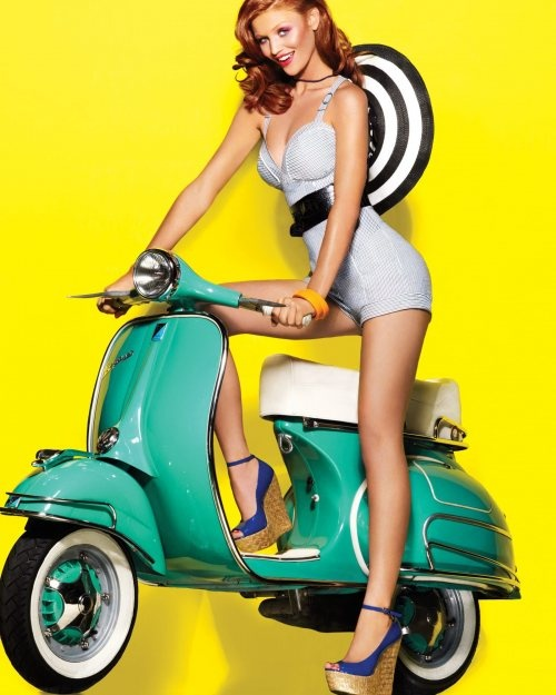 What an amazing colour for a Vespa.