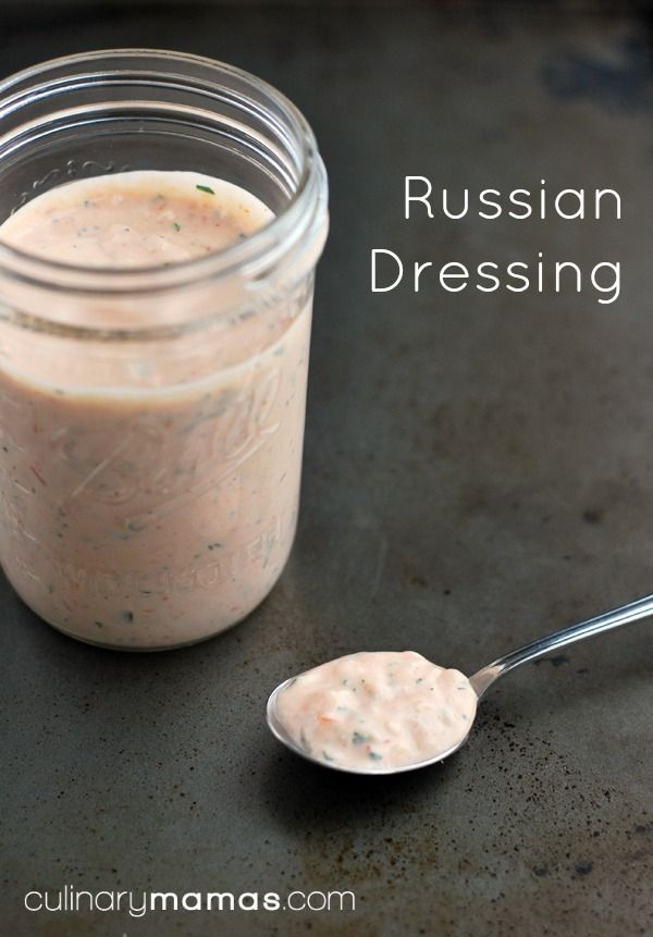 Russian Dressing - 1 cup mayonnaise|¼ cup chili sauce|1 tablespoon grated yellow onion|1 tablespoon minced celery|1 tablespoon minced dill pickle|1 tablespoon minced parsley leaves|1 tablespoon heavy cream|½ teaspoon dry mustard|½ teaspoon hot pepper sauce|¼ teaspoon Worcestershire sauce|¼ teaspoon sugar|salt - Combine all ingredients & whisk until well blended. Adjust the seasoning to taste. Cover & refrigerate until ready to use.