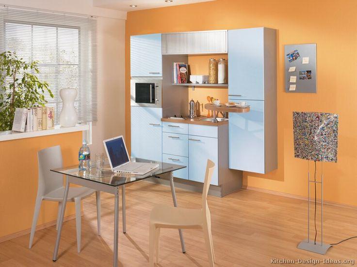 187 best small kitchens images on pinterest for Orange white kitchen