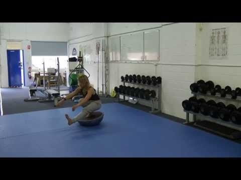 Pistol Squat on BOSU - leg front and crossed. Sydney Strength & Conditioning - YouTube