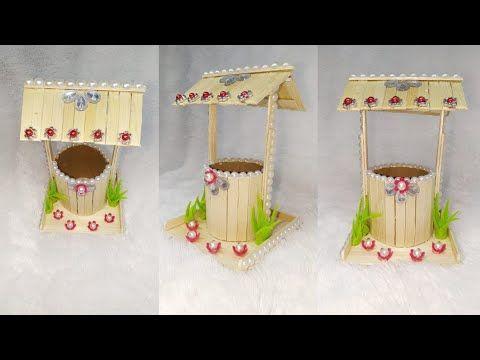 120 Ide Kreatif Miniatur Sumur Dari Stik Es Krim Popsicle