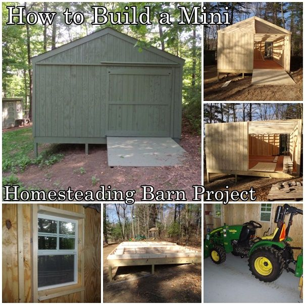 How to Build a Mini Homesteading Barn Project Homesteading  - The Homestead Survival .Com