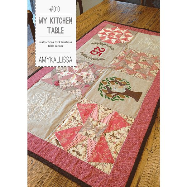 My Kitchen Table Sewing Pattern Available in PDF Download and Print