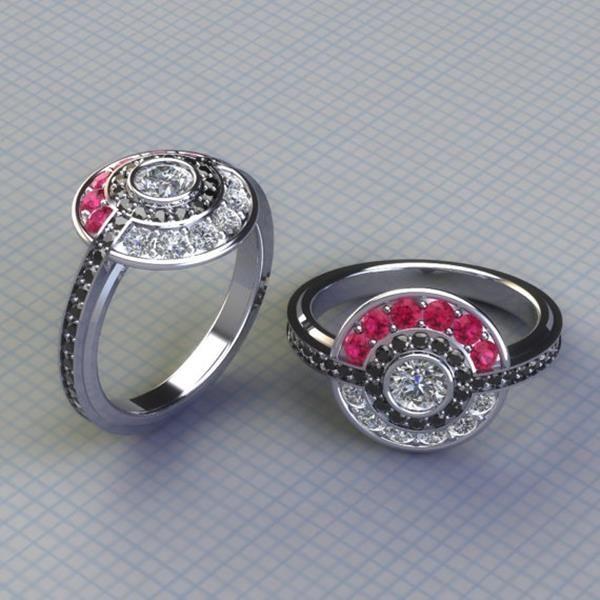 Pokemon engagement ring i choose you