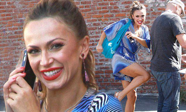DWTS' Karina Smirnoff gets playful in blue romper