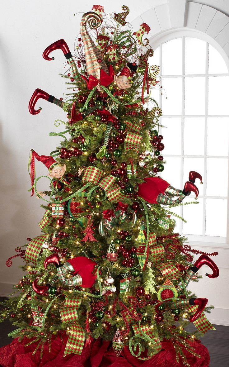 Christmas tree decorations red and green - 60 Gorgeously Decorated Christmas Trees From Raz Imports Style Estate