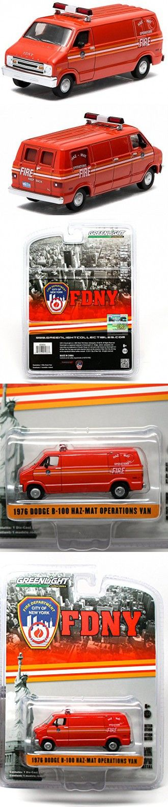 1976 DODGE B-100 HAZ-MAT OPERATIONS VAN - 2015 Greenlight Collectibles City of N...