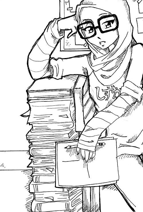 Bookworm Girl..!