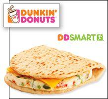 Dunkin' Donuts DDSMART Multigrain Flatbread Sandwiches (low in calories & WW points)