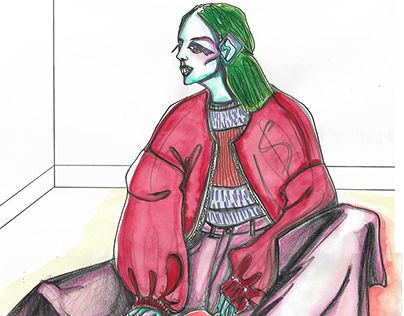 """Check out new work on my @Behance portfolio: """"fashion illustrations silhouettes…"""
