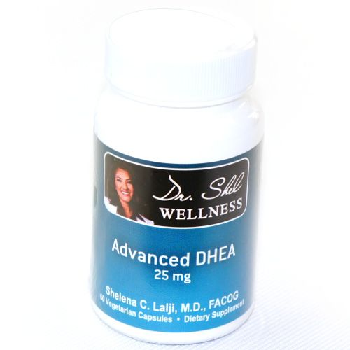 Advanced DHEA 25MG DHEA is a natural steroid hormone that is synthesized from cholesterol through pregnenelone by the adrenal glands. DHEA acts as an antagonist for glucocorticosteroid hormones and is the parent precursor for other important steroid hormones, such as estradiol and other estrogens, and testosterone.