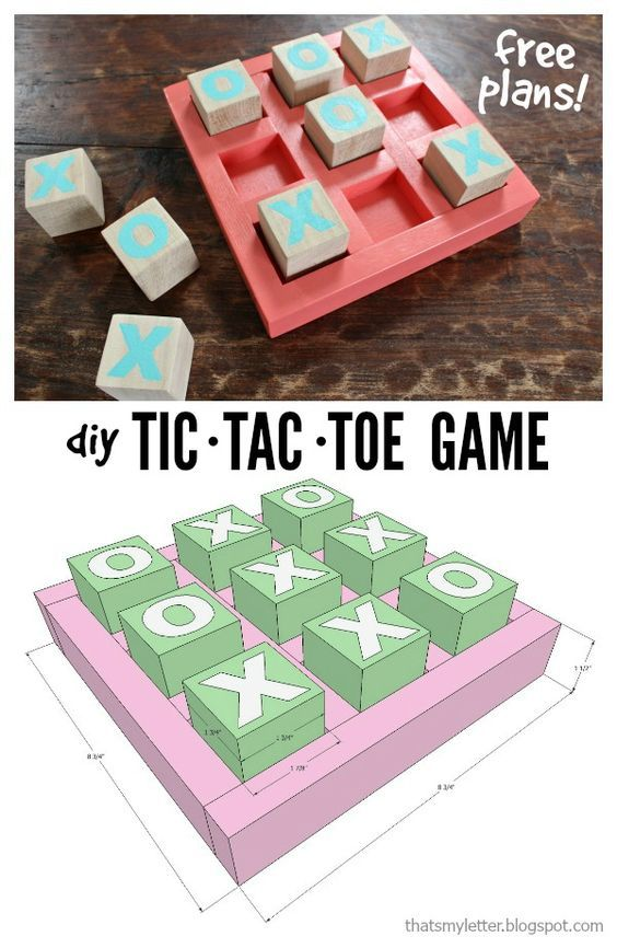 That's My Letter: DIY Tic Tac Toe Game
