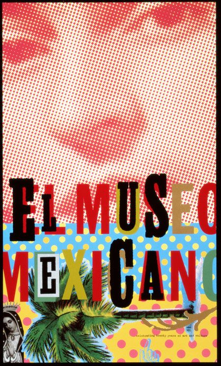 Jennifer Morla's Mexican Museum 20th Anniversary Poster. Colorful!!