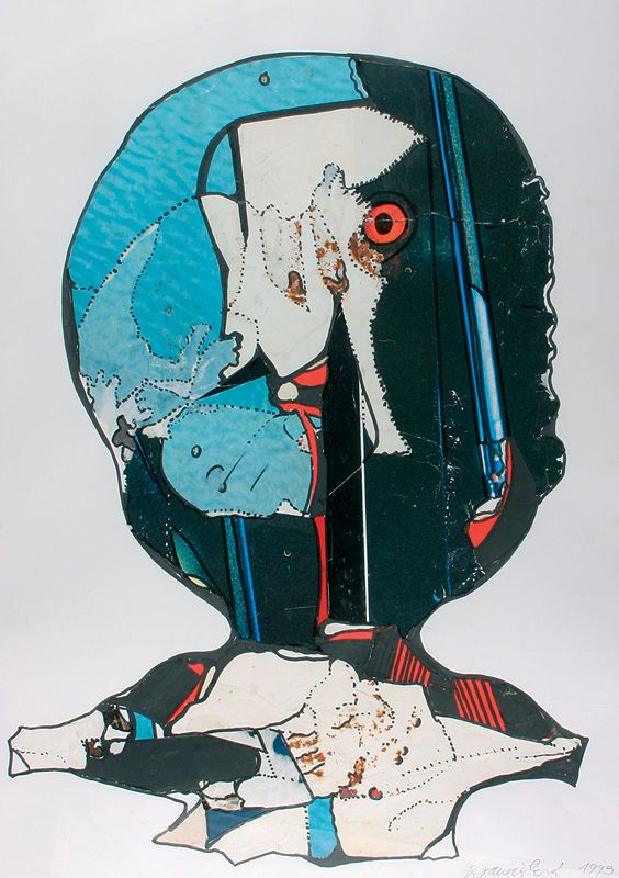 Janoušková Věra   Hlava II., 1999   Aukce obrazů, starožitností   Aukční dům Sýpka