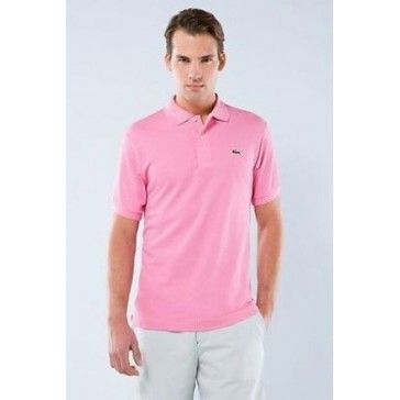 Men Polo Shirt Short Sleeve, Light Pink