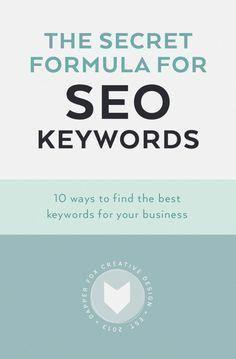 Geheime Formel für SEO-Keywords – So finden Sie die besten Keywords für Ihr Unternehmen …