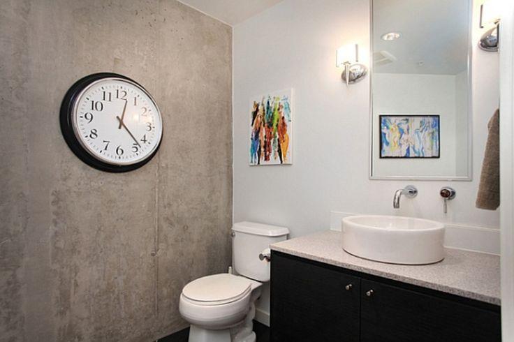 modern bathroom wall clocks