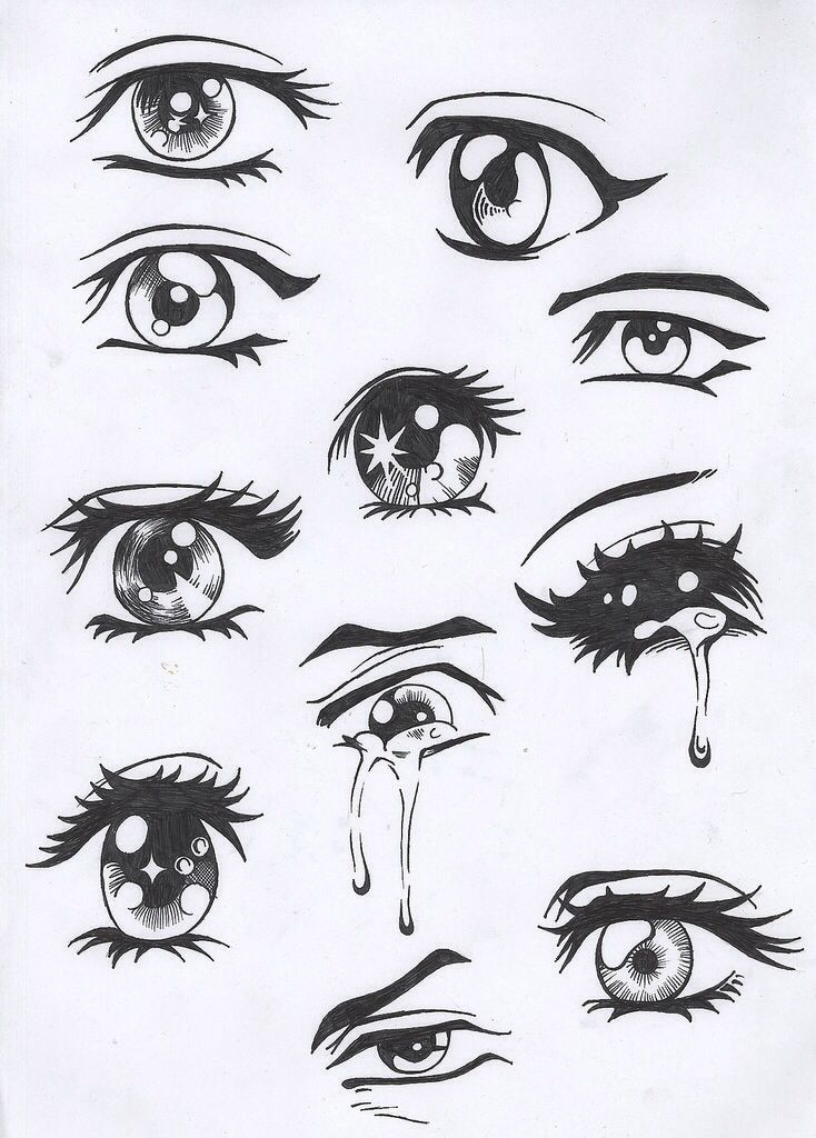 anime sad eyes | Ojitos | Pinterest | How to paint, Eyes ...