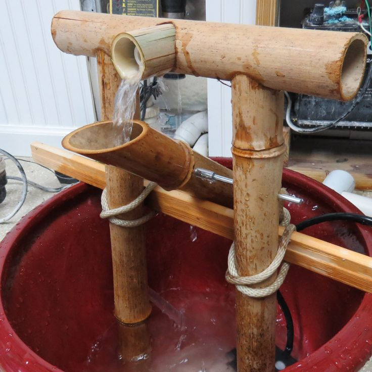 Japanese Water Fountain - Make your own shishi odoshi for that satisfying *plunk*.